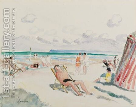 La Plage by Henri Lebasque - Reproduction Oil Painting