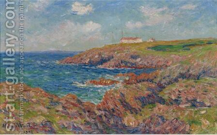 Le Semaphore, Cote De Bretagne 2 by Henri Moret - Reproduction Oil Painting