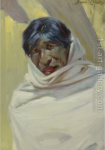 Taos Man by Ira Diamond Gerald Cassidy - Reproduction Oil Painting