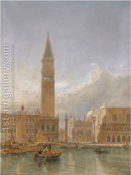 Piazzetta San Marco, Venice by Edward Alfred Angelo Goodall - Reproduction Oil Painting