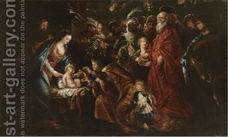 The Adoration Of The Magi 12 by (after) Sir Peter Paul Rubens - Reproduction Oil Painting