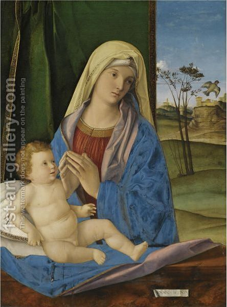 The Madonna And Child With A Goldfinch by (after) Giovanni Bellini - Reproduction Oil Painting