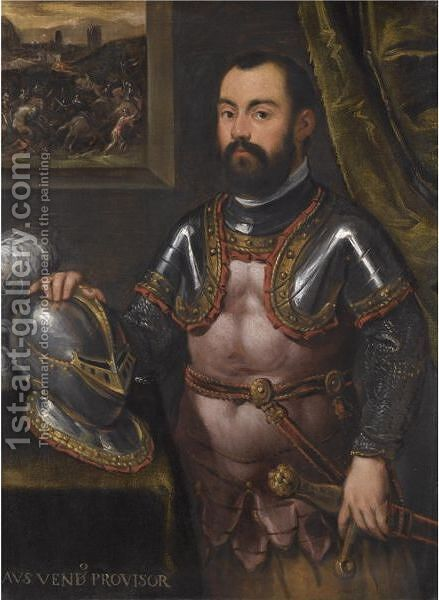Portrait Of Alvise Vendramin by (after) Jacopo Tintoretto (Robusti) - Reproduction Oil Painting