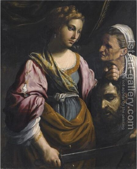 Judith With The Head Of Holofernes by Giovanni Francesco Guerrieri - Reproduction Oil Painting