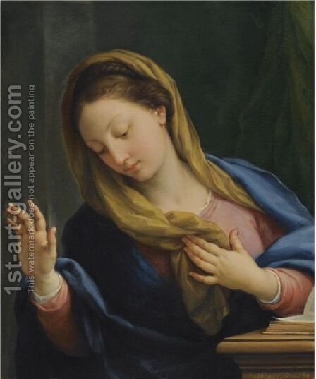 The Virgin Annunciate by Agostino Masucci - Reproduction Oil Painting