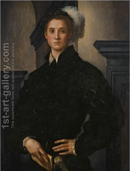 Portrait Of Cosimo I De Medici by (Jacopo Carucci) Pontormo - Reproduction Oil Painting
