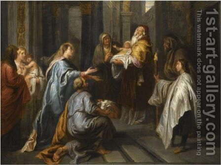 The Presentation In The Temple by Antwerp School - Reproduction Oil Painting