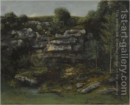 La Source by Gustave Courbet And Cherubino Pata - Reproduction Oil Painting