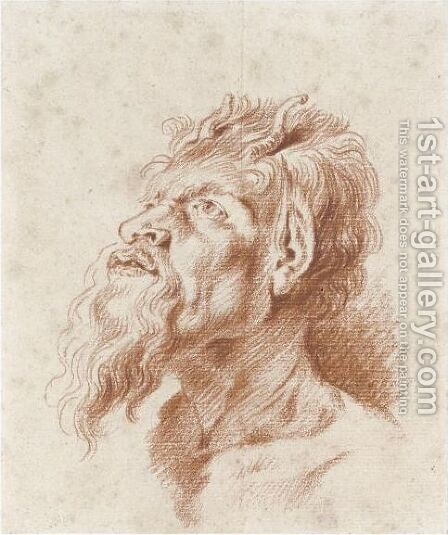 Head Of A Satyr by Jean-Antoine Watteau - Reproduction Oil Painting
