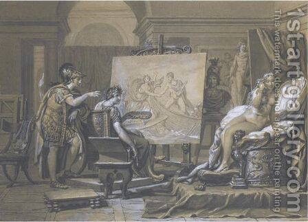 Alexander, Apelles And Campaspe by Jacques Louis David - Reproduction Oil Painting
