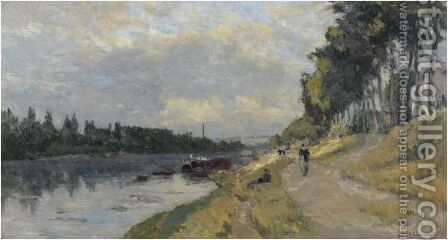 Les Bords De La Seine A Puteaux by Albert Lebourg - Reproduction Oil Painting