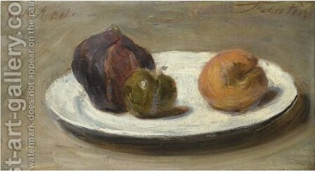 Figues, Reine-Claude Et Abricot by Ignace Henri Jean Fantin-Latour - Reproduction Oil Painting
