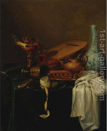 Still Life With Lemon by (after) Willem Kalf - Reproduction Oil Painting