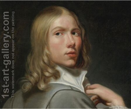 Portrait Of A Young Man by Jacob Cornelisz Van Oostsanen - Reproduction Oil Painting