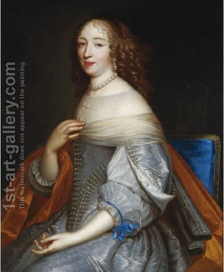 Portrait Of Catherine-Charlotte De Gramont, Princess Of Monaco (1639-1678) by (after) Jean Nocret - Reproduction Oil Painting