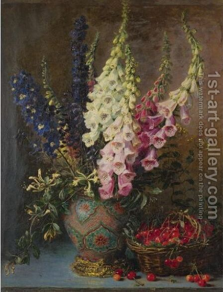 Bouquet Aux Cerises by Alexis Kreyder - Reproduction Oil Painting