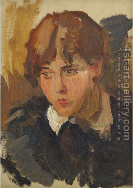 Portrait Of A Young  Girl by Isaac Israels - Reproduction Oil Painting