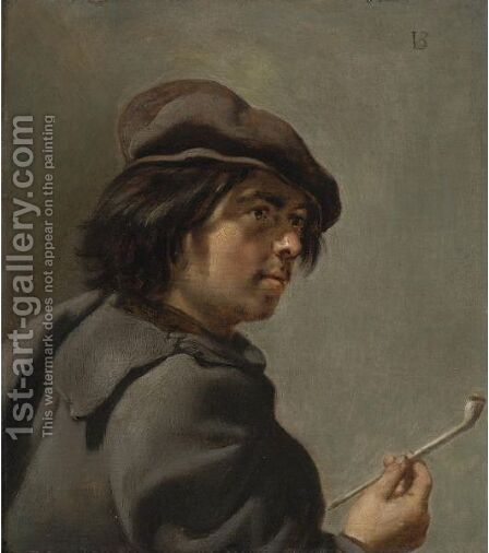 A Smoker by Jan Van Bijlert - Reproduction Oil Painting