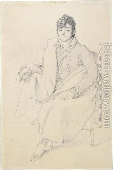 Portrait Of The Sculptor Charles Dupaty (1771-1825) by (after) Ingres, Jean Auguste Dominique - Reproduction Oil Painting