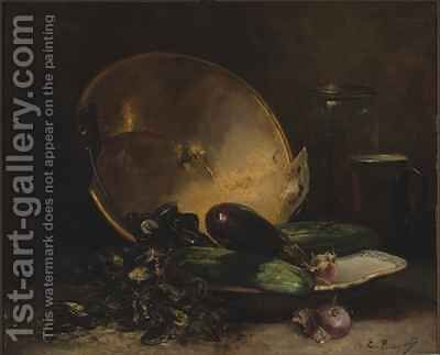 Still Life by E. Bocquet - Reproduction Oil Painting