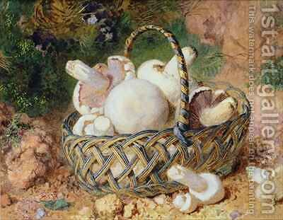 A Basket of Mushrooms by Jabez Bligh - Reproduction Oil Painting