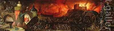 The Harrowing of Hell by Herri met de Bles - Reproduction Oil Painting