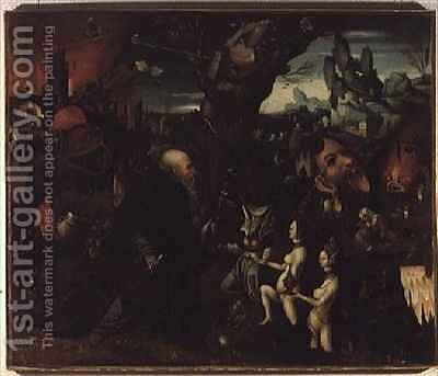 Temptation of St. Anthony by Herri met de Bles - Reproduction Oil Painting