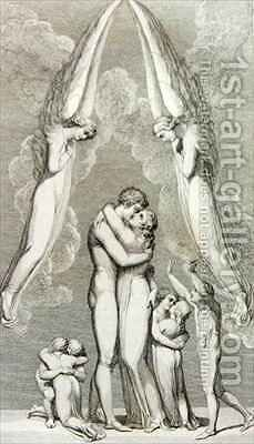 The Meeting of a Family in Heaven by (after) William Blake - Reproduction Oil Painting