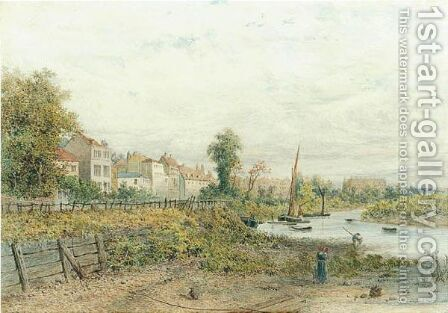 By The Thames At Chiswick by Edgar John Varley - Reproduction Oil Painting