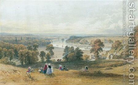The Thames From Richmond Hill by Charles Frederick Buckley - Reproduction Oil Painting