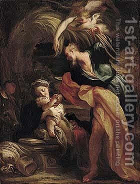 The Rest On The Flight Into Egypt by Gregorio de Ferrari - Reproduction Oil Painting
