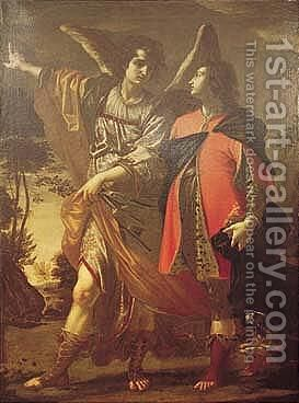 Tobias And The Angel by Cesare Dandini - Reproduction Oil Painting