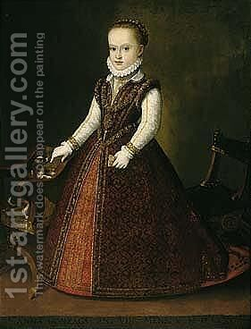 Portrait Of Anna Caterina Gonzaga (1566-1621) by (after) Orazio Vecellio - Reproduction Oil Painting