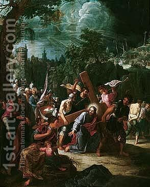 Christ On The Road To Calvary by David The Elder Teniers - Reproduction Oil Painting