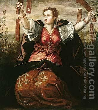 A Personification Of Temperance by Domenico Tintoretto (Robusti) - Reproduction Oil Painting