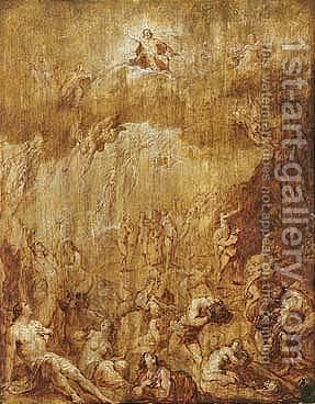 The Last Judgment by (after) Frans II Francken - Reproduction Oil Painting