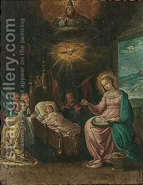 The Adoration Of The Christ Child by Cornelis de Baellieur - Reproduction Oil Painting