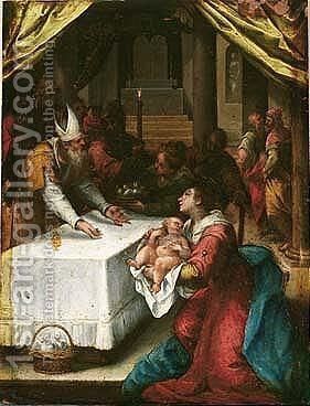 The Presentation In The Temple by Denys Calvaert - Reproduction Oil Painting