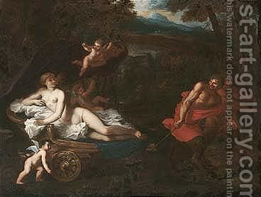 Venus in her chariot drawn by satyrs by (after) Gerard De Lairesse - Reproduction Oil Painting