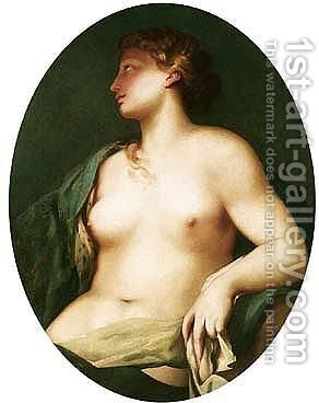 A female nude by (after) Antonio Bellucci - Reproduction Oil Painting