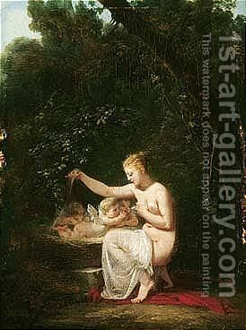 The Birth Of Cupid by Jacques-Antoine Vallin - Reproduction Oil Painting