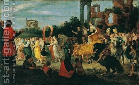 The Triumph Of Melancholy by Adriaan van Stalbemt - Reproduction Oil Painting