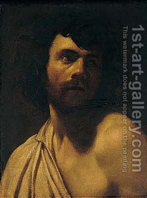 A Study Of A Bearded Man, Head And Shoulders by (after) Simon Vouet - Reproduction Oil Painting
