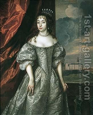 Portrait of a noble lady by (after) Dyck, Sir Anthony van - Reproduction Oil Painting