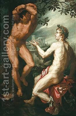 Apollo and marsyas by (after) Friedrich Sustris - Reproduction Oil Painting