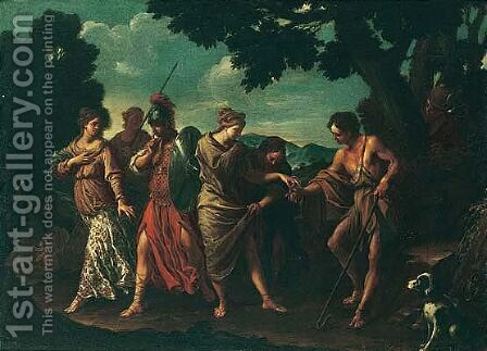 The judgement of Paris by (after) Pier Francesco Mola - Reproduction Oil Painting