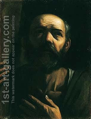 Portrait of a man by (after) Michelangelo Merisi Da Caravaggio - Reproduction Oil Painting