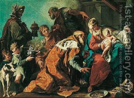 The Adoration Of The Magi by (after) Giambattista Pittoni - Reproduction Oil Painting