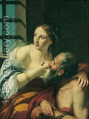 Cimon And Pero (Caritas Romana) by (after) Jean-Baptiste Nattier - Reproduction Oil Painting