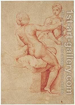Untitled by (after) Raphael (Raffaello Sanzio of Urbino) - Reproduction Oil Painting
